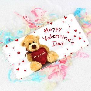 Teddy Heart Chocolate Bar