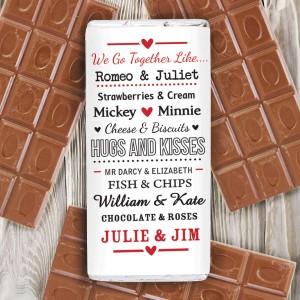 We Go Together Like.... Chocolate Bar