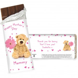 Teddy Flower Chocolate Bar