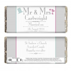 Decorative Wedding Mr & Mrs Chocolate Bar