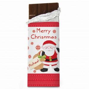 Felt Stitch Santa Chocolate Bar