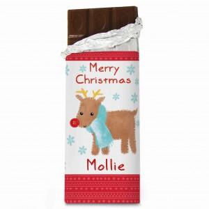 Felt Stitch Reindeer Chocolate Bar