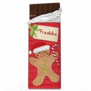 Felt Stitch Gingerbread Man Chocolate Bar