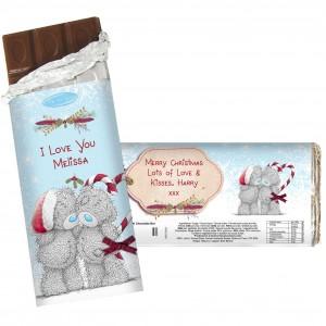 Me To You Couple Christmas Chocolate Bar