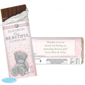 Me To You Girls Wedding Chocolate Bar