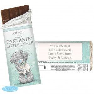 Me To You Male Wedding Chocolate Bar
