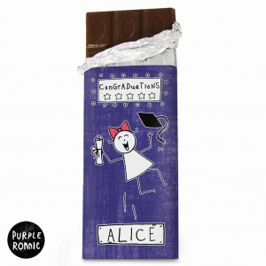 Purple Ronnie Female Graduation Chocolate Bar