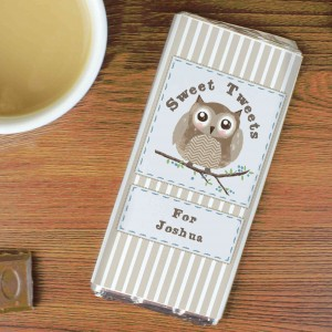 Woodland Owl Chocolate Bar