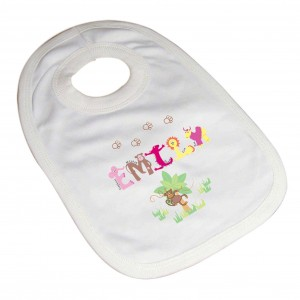 Girls Animal Alphabet Bib