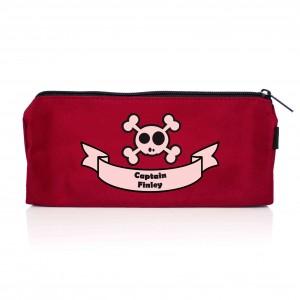 Red Boys Skull & Cross Bone Pencil Case