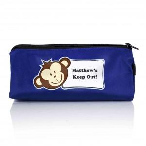 Blue Monkey Boy Pencil Case