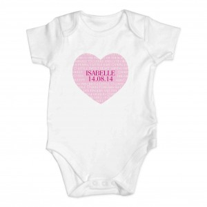 Sweet Heart 0-3 Months Baby Vest
