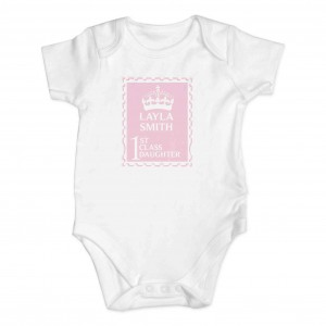 Pink 1st Class 0-3 Months Baby Vest