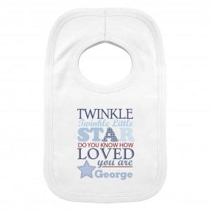 Twinkle Boys 0-3 Months Baby Bib