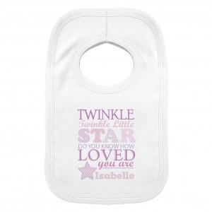 Twinkle Girls 0-3 Months Baby Bib
