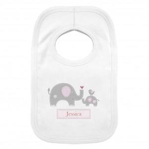 Pink Elephant 0-3 Months Baby Bib