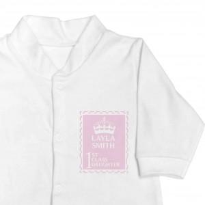 Pink 1st Class 3-6 Months Babygrow