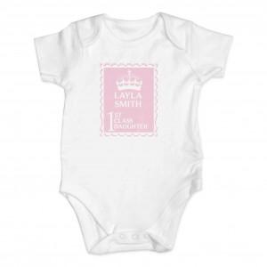 Pink 1st Class 12-18 Months Baby Vest