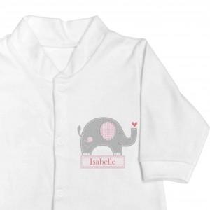 Pink Elephant 9-12 Months Babygrow