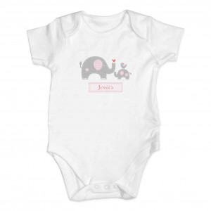 Pink Elephant 3-6 Months Baby Vest