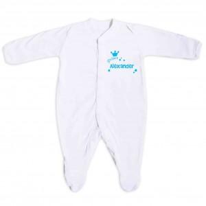 Little Prince Blue 3-6 Months Babygrow