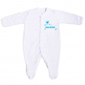 Little Prince Blue 12-18 Months Babygrow