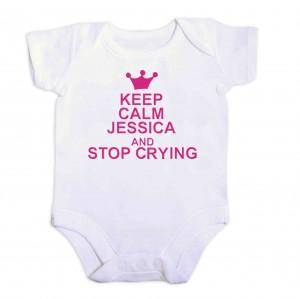 Pink Keep Calm 6-9 Months Baby Vest