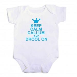 Blue Keep Calm 6-9 Months Baby Vest