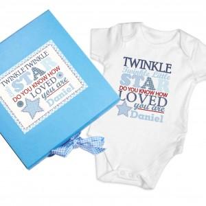 Twinkle Boys Blue Gift Set - Baby Vest