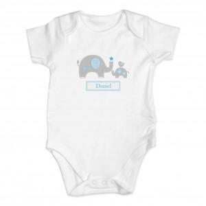 Blue Baby Elephant Gift Set - Baby Vest