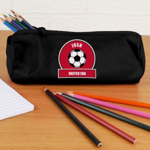 Red Football Fan Pencil Case