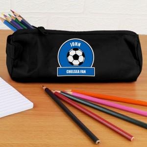 Dark Blue Football Fan Pencil Case