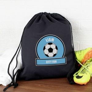 Sky Blue Football Fan Kit Bag