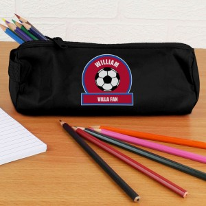 Claret and Blue Football Fan Pencil Case