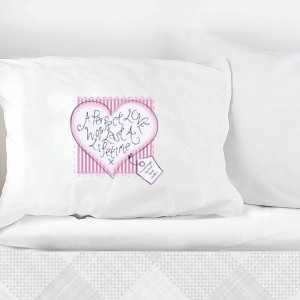 Heart Stitch A Perfect Love Pillowcase