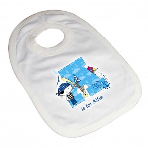 Pirate Letter Baby Bib