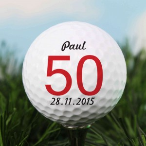 Big Numbers Birthday Golf Ball