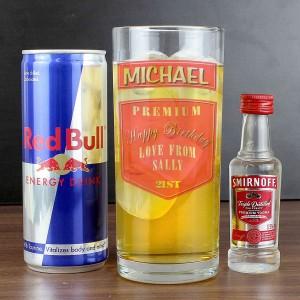 Vodka Glass & Red Bull set