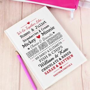 We Go Together Like.... Hardback Notebook