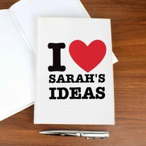I HEART Hardback Notebook