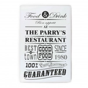 Food & Drink Restaurant Plaque