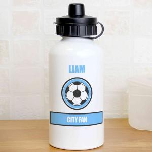 Sky Blue Football Fan Drinks Bottle