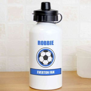 Dark Blue Football Fan Drinks Bottle