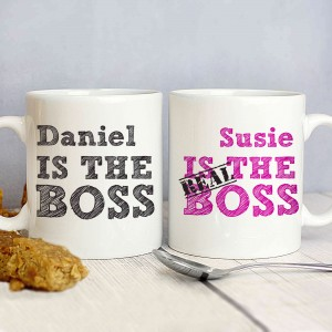 The Real Boss Mug Set