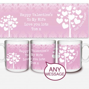 Love Grows Mug Pink