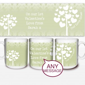 Love Grows Mug Green