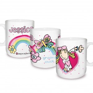 Bang on the Door Groovy Chick Rainbow Mug