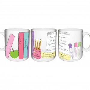 Female Teacher Books Mug