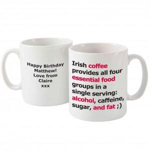 Irish Coffee Slogan Mug