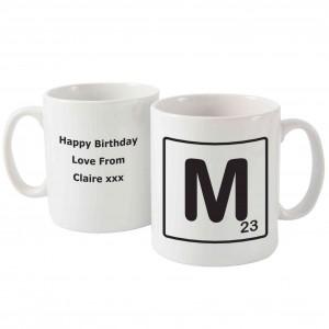 Letter and Age Slogan Mug